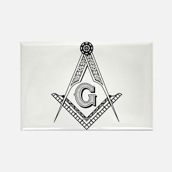 Masonic Symbol Rectangle Magnet