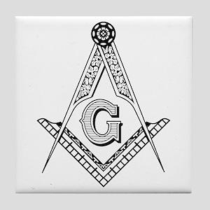 Masonic Symbol Tile Coaster
