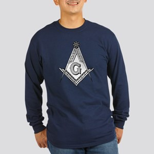Masonic Symbol Long Sleeve Dark T-Shirt