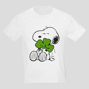 Snoopy Hugging Clover Kids Light T-Shirt