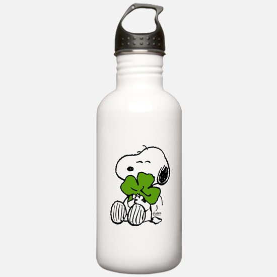 Snoopy Hugging Clover Water Bottle