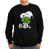 Peanuts st patricks Sweatshirt (dark)