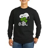 Peanuts st patricks Long Sleeve Dark T-Shirts