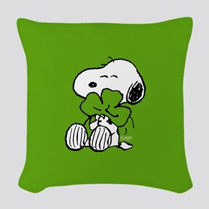 Peanuts Woodstock Lucky Woven Throw Pillow