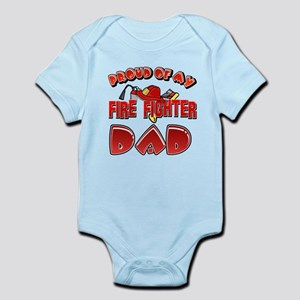 Proud of my Firefighter dad Infant Bodysuit