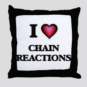 I love Chain Reactions Throw Pillow