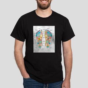Reflexology foot map, artwork T-Shirt