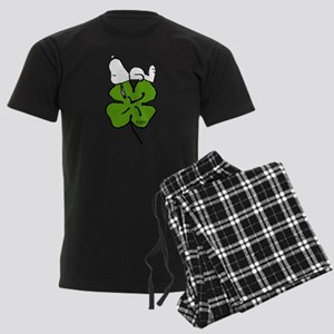 Snoopy Hugging Clover Men's Dark Pajamas