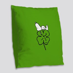 Peanuts Woodstock Lucky Burlap Throw Pillow