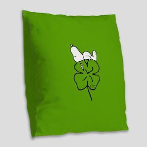 Peanuts Woodstock Lucky Burlap Throw Pillow