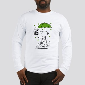 Snoopy Raining Clovers Long Sleeve T-Shirt