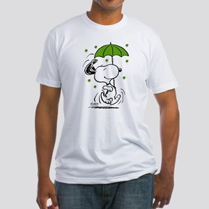Snoopy Raining Clovers Fitted T-Shirt