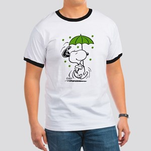 Snoopy Raining Clovers Ringer T