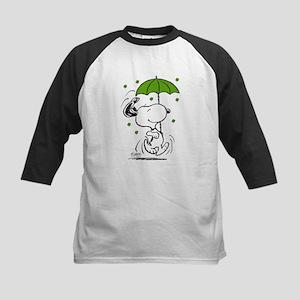 Snoopy Raining Clovers Kids Baseball Tee
