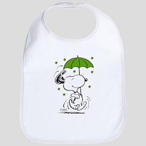 Snoopy Raining Clovers Cotton Baby Bib