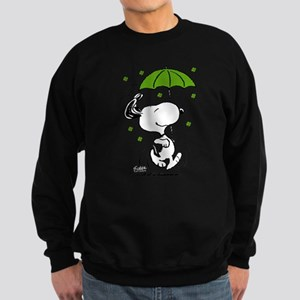 Snoopy Raining Clovers Sweatshirt (dark)