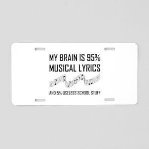 Brain Musical Lyrics Funny Aluminum License Plate