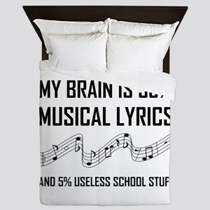 Brain Musical Lyrics Funny Queen Duvet
