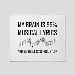 Brain Musical Lyrics Funny Throw Blanket