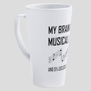 Brain Musical Lyrics Funny 17 oz Latte Mug