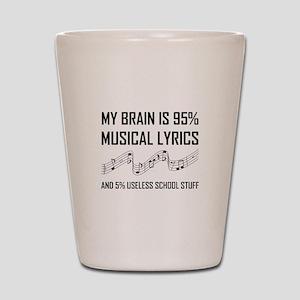 Brain Musical Lyrics Funny Shot Glass