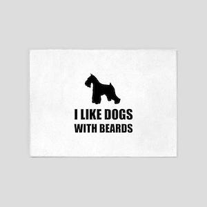 Dogs With Beards Schnauzer 5'x7'Area Rug