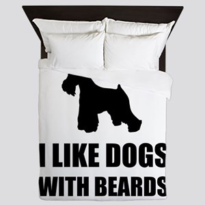 Dogs With Beards Schnauzer Queen Duvet