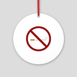 no smoking signal Round Ornament