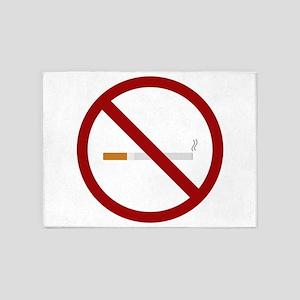 no smoking signal 5'x7'Area Rug