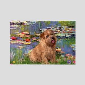 Lilies /Norfolk Terrier Rectangle Magnet