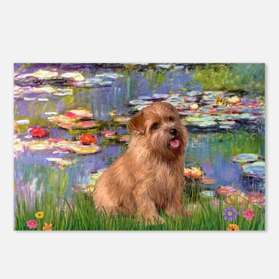 Lilies /Norfolk Terrier Postcards (Package of 8)