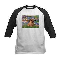 Lilies /Norfolk Terrier Kids Baseball Jersey