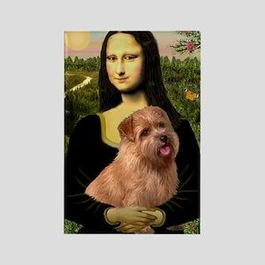 Mona / Norfolk Terrier Rectangle Magnet