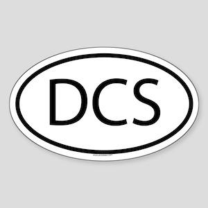 DCS Oval Sticker