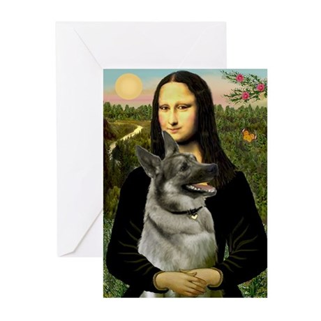 Mona / Nor Elkhound Greeting Cards (Pk of 20)