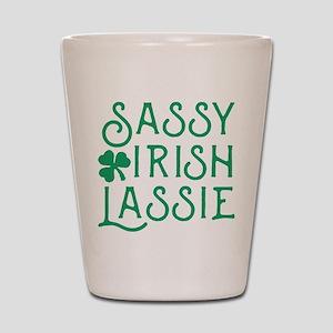 Sassy Irish Lassie Shot Glass