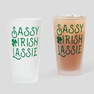 Sassy Irish Lassie Drinking Glass