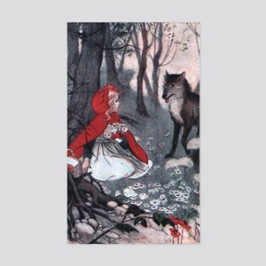 Little Red Riding Hood Rectangle Sticker