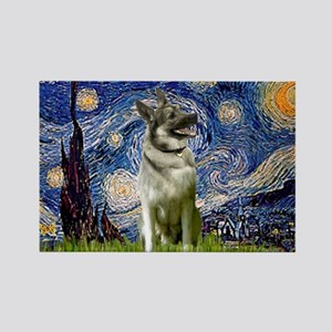 Starry / Nor Elkhound Rectangle Magnet