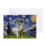 Starry / Nor Elkhound Greeting Cards (Pk of 20)