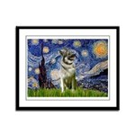 Starry / Nor Elkhound Framed Panel Print