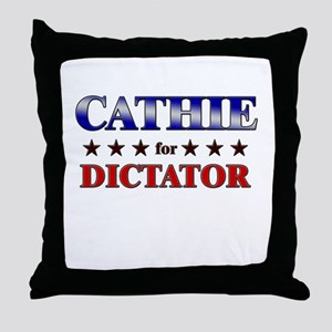 CATHIE for dictator Throw Pillow