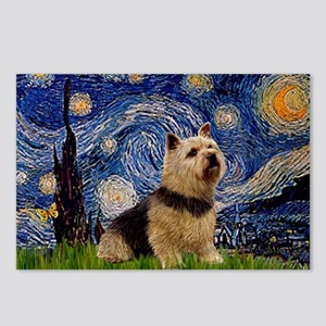 Starry /Norwich Terrier Postcards (Package of 8)