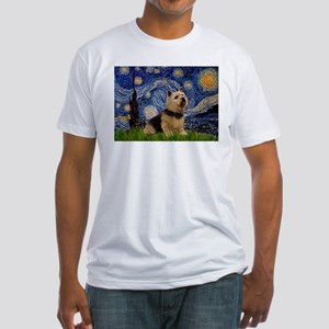 Starry /Norwich Terrier Fitted T-Shirt