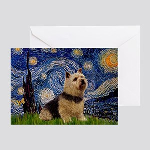 Starry /Norwich Terrier Greeting Card
