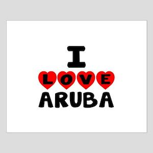 I Love Aruba Small Poster