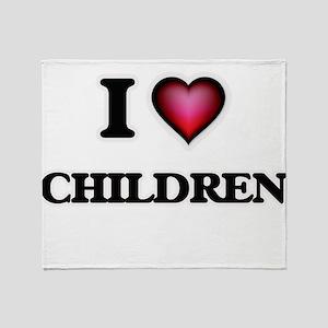 I love Children Throw Blanket