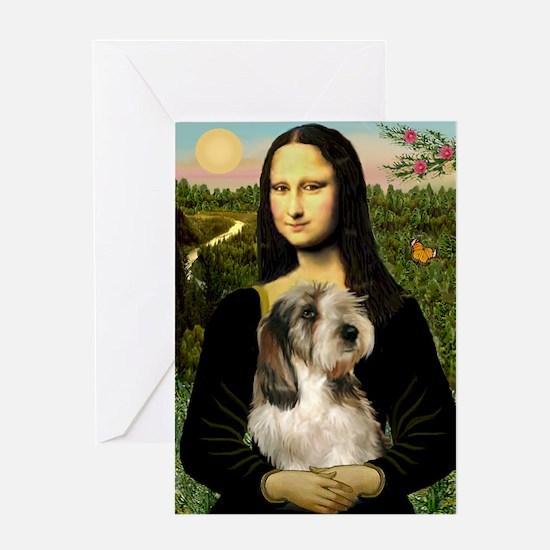 Mona Lisa / PBGV Greeting Card