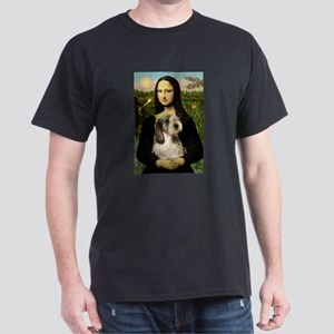 Mona Lisa / PBGV Dark T-Shirt