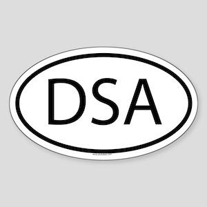 DSA Oval Sticker
